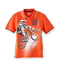 OshKosh B'Gosh® Boys' 4-7 Orange Short Sleeve BMX Biker Pique Polo