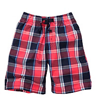 OshKosh B'Gosh® Boys' 2T-7 Red Plaid Pull On Shorts