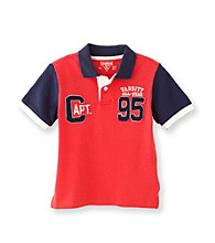 OshKosh B'Gosh® Boys' 2T-7 Red/Navy Short Sleeve Capt 95 Polo