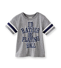 OshKosh B'Gosh® Boys' 2T-4T Grey Short Sleeve Play Ball Tee