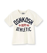 OshKosh B'Gosh® Boys' 2T-7 White Short Sleeve Athletic Dept Tee