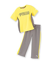 PUMA® Boys' 2T-7 Logo Performance 2-pc. Pants Set