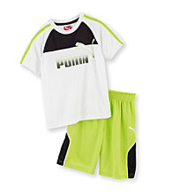 PUMA® Boys' 2T-7 Logo Shorts Set