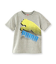 PUMA® Boys' 2T-7 Grey Short Sleeve Cat Tee