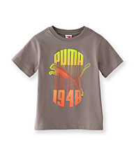 PUMA® Boys' 2T-20 Grey Short Sleeve Drip Tee