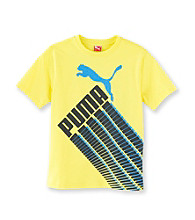 PUMA® Boys' 2T-7 Yellow Short Sleeve Racing Tee