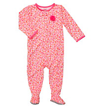 Carter's® Girls' 12M-2T Neon Pink Flower Print Footie Pajamas