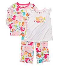 Carter's® Girls' 12M-4T White 3-pc. Mermaid Print Pajama Set