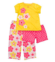 Carter's® Girls' 12M-4T Yellow 3-pc. Flower Print Pajama Set
