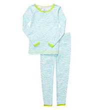 Carter's® Girls' 12M-4T Blue 2-pc. Animal Print Pajama Set
