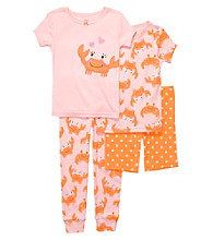 Carter's® Girls' 12M-4T Pink/Orange 4-pc. Crab Pajama Set