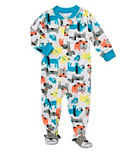 Carter's® Boys' 12M-4T White Dog Print Footie Pajamas