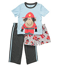 Carter's® Boys' 12M-4T Blue 3-pc. Fireman Monkey Pajama Set