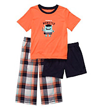 Carter's® Boys' 12M-4T Orange Plaid 3-pc.