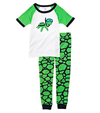 Carter's® Boys' 12M-4T Green 2-pc. Turtle Pajama Set