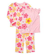 Carter's® Girls' 4-14 Pink 3-pc. Flowers Pajama Set