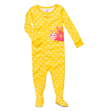 Carter's® Baby Girls' Yellow Polka-Dot Lady Bug Footie Pajamas
