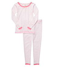 Carter's® Baby Girls' Pink 2-pc. Animal Print Pajama Set