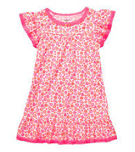 Carter's® Girls' 2T-4T Neon Pink Flower Print Sleep Gown