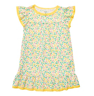 Carter's® Girls' 2T-4T Yellow Flower Print Sleep Gown