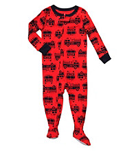 Carter's® Baby Boys' Red Fire Truck Print Footie Pajamas