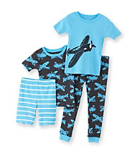 Carter's® Boys' 12M-4T Turquoise 4-pc. Airplane Pajama Set