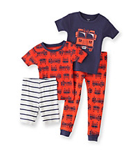 Carter's® Boys' 12M-4T Navy/Red 4-pc. Fire Truck Pajama Set