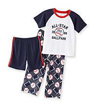 Carter's® Boys' 4-12 Grey 3-pc. All Star Ballpark Pajama Set
