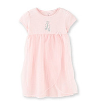 Carter's® Girls' 4-14 Pink Ballet Overlay Sleep Gown