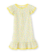 Carter's® Girls' 4-14 Yellow Floral Print Sleep Gown