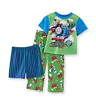 Thomas & Friends Boys' 2T-4T Green 3-pc. Happy Train Pajama Set