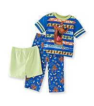 Scooby-Doo Boys' 2T-4T Blue 3-pc. Ruh Roh Pajama Set