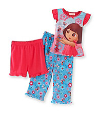 Dora the Explorer® Girls' 2T-4T Pink 3-pc. Sweet Butterfly Pajama Set