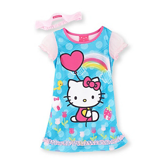 Hello Kitty® Girls' 2T-4T Pink/Blue Balloon Kitty Pajamas