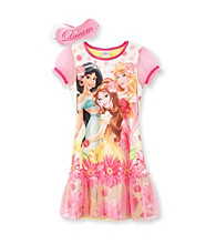 Disney Princess® Girls' 4-8 Yellow Sunflower Pajamas