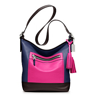 COACH LEGACY COLORBLOCK LEATHER DUFFLE
