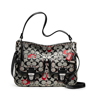 COACH POPPY EMBROIDERED SIGNATURE C HIPPIE