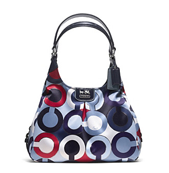 COACH MADISON GRAPHIC OP ART METALLIC MAGGIE