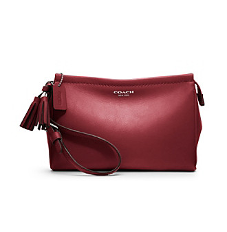 COACH LEGACY LEATHER LARGE WRISTLET