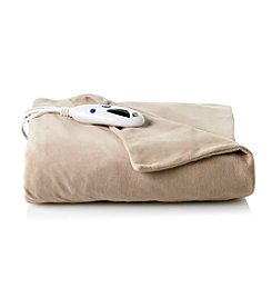 LivingQuarters Heated Micro Plush Throw