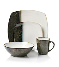 Sango Metallic Black 16-pc. Dinnerware Set