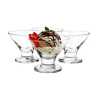 LivingQuarters Set of 4 Martini Dessert Dishes