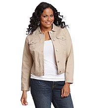 Relativity® Plus Size Jean Jacket