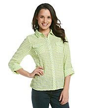 Relativity® Check Button-Front Shirt