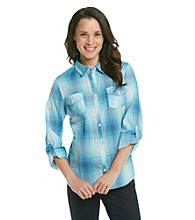 Relativity® Ombre Plaid Shirt