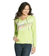 Mambo® Juniors' Faded Palm Kanga Pocket Pullover