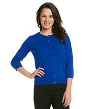 Relativity® Career Petites' Solid Cardigan