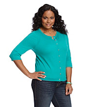 Relativity® Career Plus Size Solid Cardigan