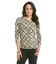 Relativity® Career Printed Cardigan