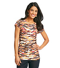 Relativity Petites' Printed V-Neck Top